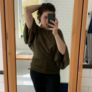 💕Mexx forest green light knit shirt